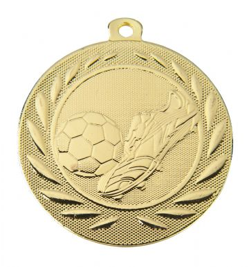 DI5000B 50MM Embossed Football Medal & Ribbon ( Box Qty 300 ) from only £156.00 = £0.52 each